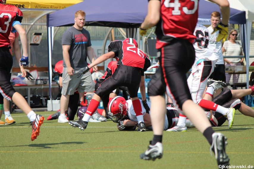 Sommer Camp der Jugend Footballer der Marburg Mercenaries 201