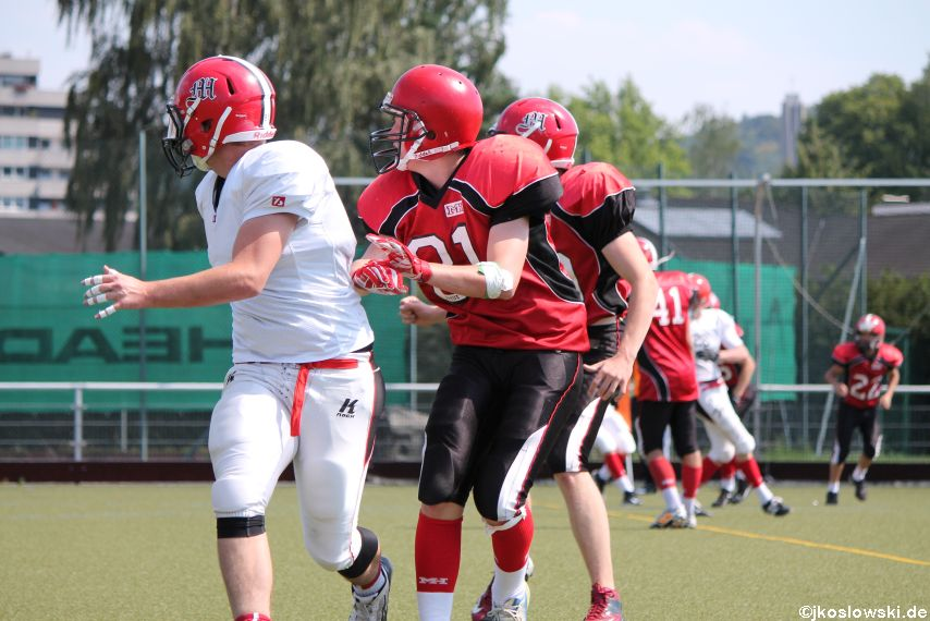 Sommer Camp der Jugend Footballer der Marburg Mercenaries 211